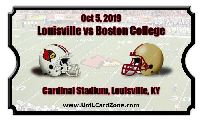 Louisville Cardinals vs Boston College Eagles Football ...